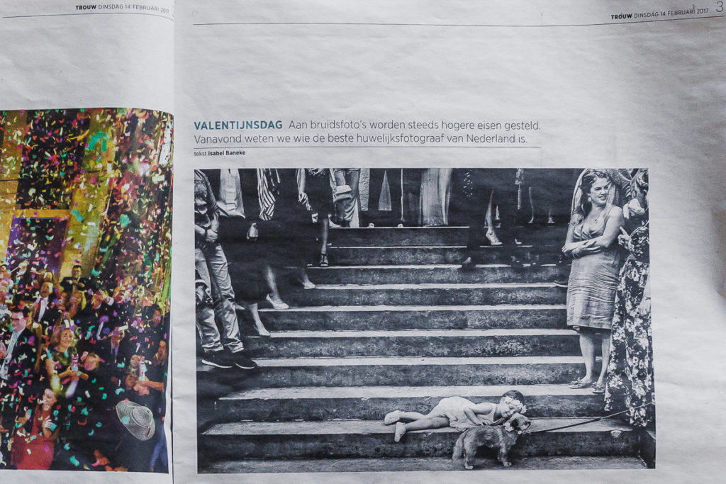 Artikel trouw over de dutch wedding awards | beste trouwfotograaf Nederland