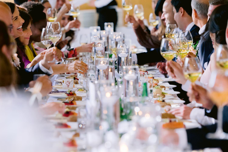 diner roode koper bruiloft