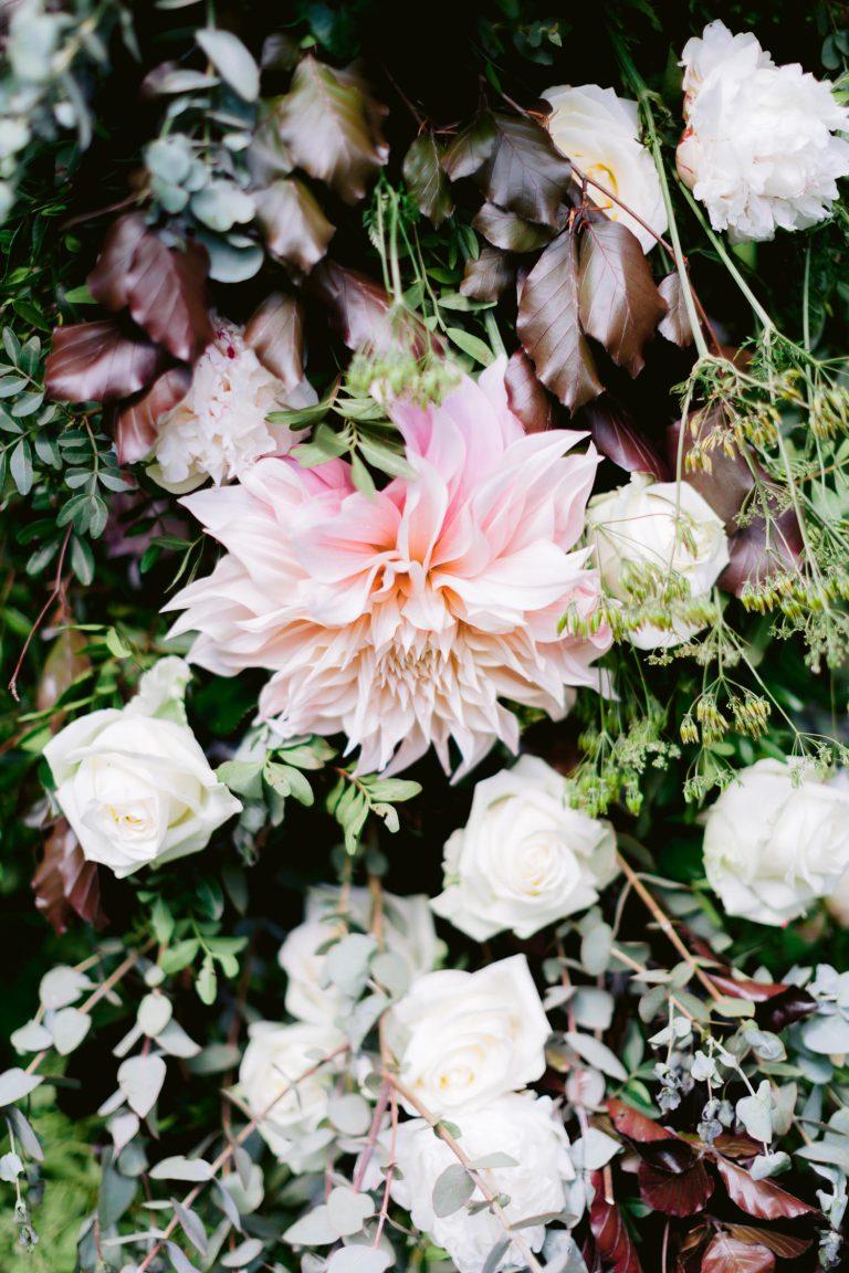 Bloemenmeisjes Bruiloft Styling roode koper