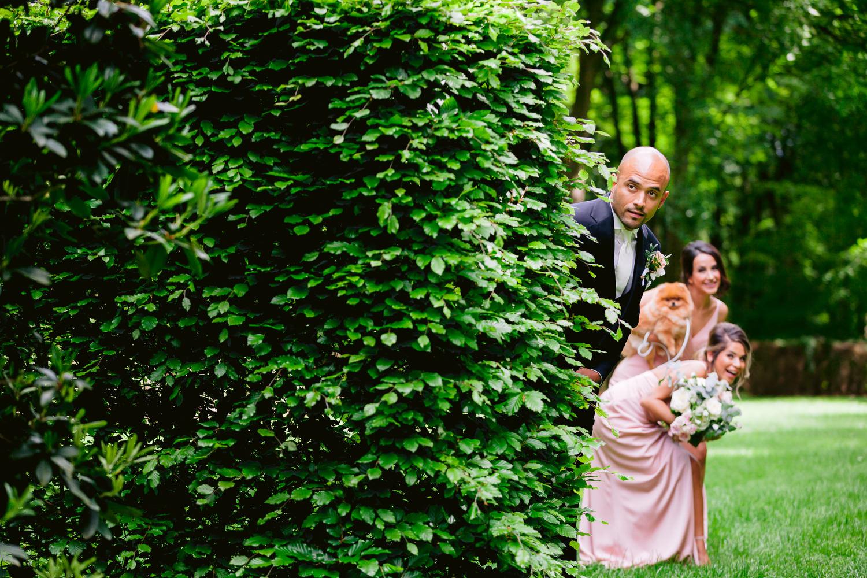 trouwceremonie tuin roode koper