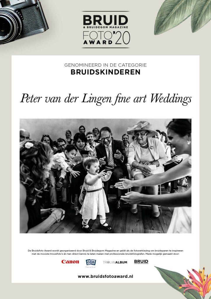 Bruidsfoto Award 2020 nominatie Peter van der Lingen